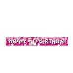 Happy 50th Birthday Foil Banners 2.7m - 12 PKG