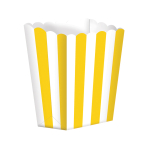 Sun Yellow Candy Buffet Popcorn Treat Boxes - 24 PKG/5