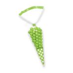 Kiwi Green Candy Buffet Cone Polka Dots Bags - 24 PKG/10