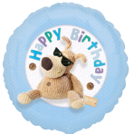 Boofle Happy Birthday Blue Standard Foil Balloon - S60 5 PC