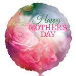 Mother's Day Pink Roses Standard Foil Balloons S40 - 5 PC