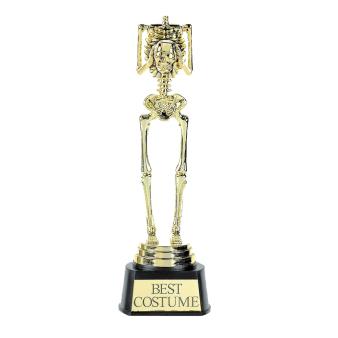 Best Costume Skeleton Trophy 24cm x 7.6cm - 6 PC