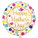 Happy Mother's Day Touch of Gold Standard HX Foil Balloons S40 - 5 PC