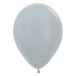 "Satin Solid Silver 481 Latex Balloons 12""/30cm - 50 PC"