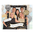 Gold Sparkling Celebration Add an Age Giant Photo Frame with Props - 3 PKG/15