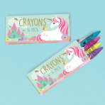 Magical Unicorn Crayons - 6 PKG/12