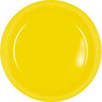 Sunshine Yellow Plastic Plates  - 17.7cm - 10 PKG/20