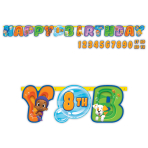 Bubble Guppies Add-an-Age Letter Banners 3.2m x 30cm - 6 PKG