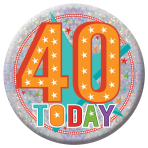 40 Today Holographic Badges 15cm - 6 PC