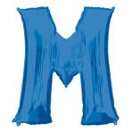 """Letter M Blue SuperShape Foil Balloons 34""""/""""86cm P50 - 5 PC"""