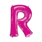 """Letter R Pink SuperShape Foil Balloons 34""""/""""86cm P50 - 5 PC"""
