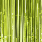 Kiwi Green Door Curtain 91cm x 2.43m - 6 PC