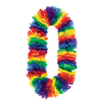 Hawaiian Jumbo Rainbow Leis 1.01m - 6 PC