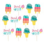 Just Chillin' Ice Cream Picks 8.8cm - 12 PKG/24