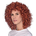 Curly Brown Wigs - 6 PC