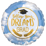 Follow Your Dreams Standard HX Foil Balloons S40 - 5 PC