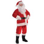 Plush Santa Suit Costume - Size Medium/Large - 1 PC