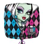 """Monster High Skullette Badge Standard  Foil Balloon 18""""/45cm XL S60 5 PC"""