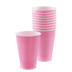 New Pink Plastic Cups 355ml - 10 PKG/20