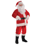 Adults Santa Plush Men Costume - Size S - 1 PC