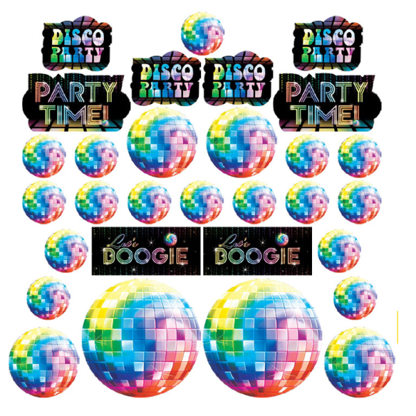 70s Disco Assorted Cut-outs - 12 PKG/30 : Amscan International