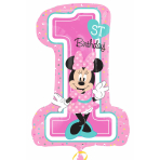 Minnie Mouse 1st Birthday SuperShape Foil Balloons P38 - 5 PC