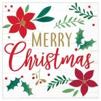 Christmas Wishes Luncheon Napkins 33cm - 12 PKG/16