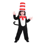 The Cat in the Hat Jumpsuit - Age 8-10 Years - 1 PC