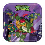 Rise of the Teenage Mutant Ninja Turtles Square Paper Plates 18cm - 6 PKG/8