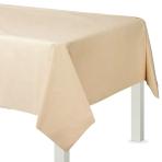 Vanilla Creme Plastic Tablecovers 1.37m x 2.74m -12 PC