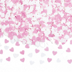 Mini Pink/White Paper Hearts Confetti 56.6g - 12 PC