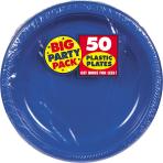 Bright Royal Blue Plastic Plates 18cm - 6 PKG/50