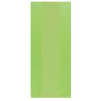 Kiwi Green Large Plastic Party Bag 29cm h x 12.5cm w - 12 PKG/25