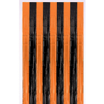 Orange & Black Metallic Door Curtains 91cm x 2.43m - 12 PC