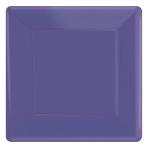 New Purple Paper Square Plates 18cm - 6 PKG/20