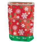 Christmas Snowflake Fling Bins - 5 PKG