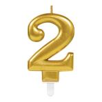 Gold Metallic Finish Candles #2 - 12 PC