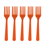 Orange Peel Plastic Forks - 12 PKG/10