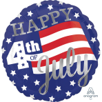 Happy 4th of July Standard Foil Balloons S40 - 5 PC