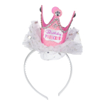 Birthday Princess Felt Headbands - 6 PC