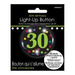 30th Flashing Badges 5.7cm - 6 PC