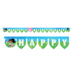 Nella The Princess Knight Happy Birthday Letter Banners 2.1m x 13cm - 6 PC