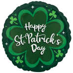 St. Patrick's Day Green Standard Foil Balloons S40 - 5 PC