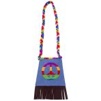 Hippie Tassel Handbags with Peace Sign - 6 PC