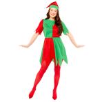 Basic Elf Lady Costume - Size Small/Medium - 1 PC