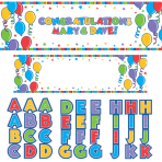 Personalise It Giant Sign Banners -12 PC