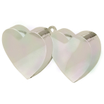 Iridescent Double Heart Balloon Weights 170g/6oz - 12 PC