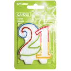 Milestone Candle Number 21 - 6 PKG