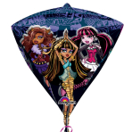 "Monster High Diamondz Foil Balloons 15""/38cm w x 17""/43cm h G40 - 5PC"
