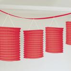 Red Paper Lantern Garlands 3.65m - 6 PC